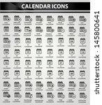 calendar icon set black version ... | Shutterstock .eps vector #145800641