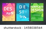 set of template design of... | Shutterstock .eps vector #1458038564