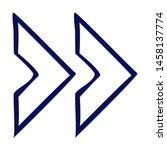 double chevron arrow right.... | Shutterstock .eps vector #1458137774
