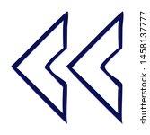 double chevron arrow left. hand ... | Shutterstock .eps vector #1458137777
