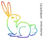 rainbow gradient line drawing... | Shutterstock . vector #1458169151
