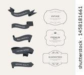 set of vintage frame label old... | Shutterstock .eps vector #1458181661
