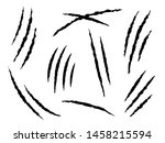 claws scratches. claw marks ... | Shutterstock .eps vector #1458215594