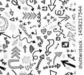 seamless pattern of arrows on... | Shutterstock .eps vector #1458217544