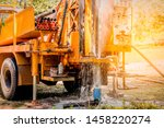 ground water hole drilling... | Shutterstock . vector #1458220274
