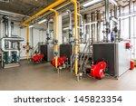 the interior of gas boiler ... | Shutterstock . vector #145823354