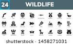 wildlife icon set. 24 filled... | Shutterstock .eps vector #1458271031