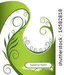 green floral background   Shutterstock .eps vector #14582818