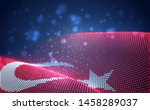 vector bright glowing country... | Shutterstock .eps vector #1458289037