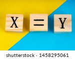 Xyz Letters Written On Wooden...