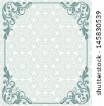 vintage frame and seamless... | Shutterstock .eps vector #145830539