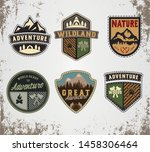 hand made badge in flat style....   Shutterstock .eps vector #1458306464