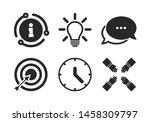target aim sign. chat  info... | Shutterstock .eps vector #1458309797