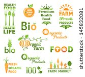 set of organic products icons.... | Shutterstock .eps vector #145832081