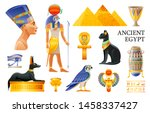 Ancient Egypt Icon Set. 3d Ra...