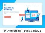 social media marketing vector... | Shutterstock .eps vector #1458350021