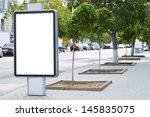 vertical blank billboard on the ... | Shutterstock . vector #145835075