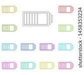 battery multi color icon....