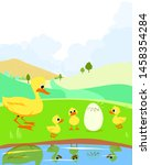 the ugly ducking  aesop's fairy ... | Shutterstock .eps vector #1458354284