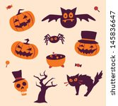 halloween icons | Shutterstock .eps vector #145836647