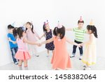 pretty asian children group... | Shutterstock . vector #1458382064