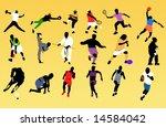 sports disciplines | Shutterstock . vector #14584042