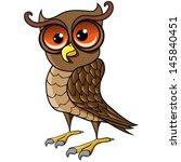 Cartoon Vector Owl.