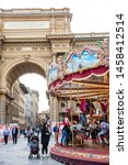 florence  italy   april  2018 ... | Shutterstock . vector #1458412514