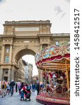 florence  italy   april  2018 ... | Shutterstock . vector #1458412517