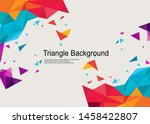 triangle background elegant... | Shutterstock .eps vector #1458422807
