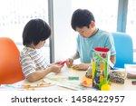 elementary school student... | Shutterstock . vector #1458422957