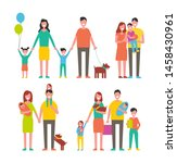 family members cartoon... | Shutterstock . vector #1458430961