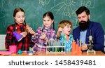 little kids learning chemistry... | Shutterstock . vector #1458439481