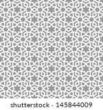 arabic seamless ornament.... | Shutterstock .eps vector #145844009