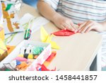 elementary school student doing ... | Shutterstock . vector #1458441857