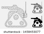 mesh military robot model with... | Shutterstock .eps vector #1458453077