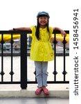 asian child girls wearing... | Shutterstock . vector #1458456941