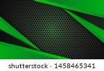 modern 3d geometry shapes black ... | Shutterstock .eps vector #1458465341