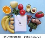 food rich in potassium with the ... | Shutterstock . vector #1458466727