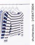 five stripy long shorts shirt...   Shutterstock . vector #1458473804