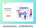 web banner background vector... | Shutterstock .eps vector #1458482501