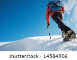 lone male mountain climber...   Shutterstock . vector #14584906