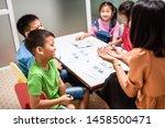 asian elementary school... | Shutterstock . vector #1458500471