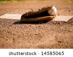 A Brown Leather Baseball Glove...