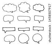 hand drawn speech bubbles.... | Shutterstock .eps vector #1458507917