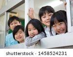 primary schoolchild who makes... | Shutterstock . vector #1458524231