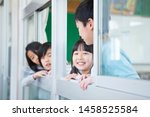 primary schoolchild who makes... | Shutterstock . vector #1458525584