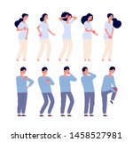 pain people. persons feeling... | Shutterstock .eps vector #1458527981