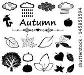 Set Of Autumn Icon Isolated On...