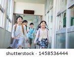 elementary school student... | Shutterstock . vector #1458536444